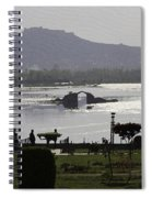 Shalimar Garden The Dal Lake And Mountains Spiral Notebook