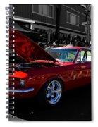 Shelby Gt 500 Mustang Spiral Notebook