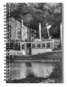 Shem Creek In Black And White Spiral Notebook