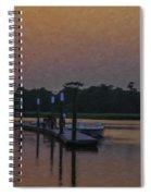 Sunset Life On Shem Creek  Spiral Notebook