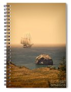 Ship Off The Coast Spiral Notebook