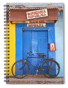 Shop On Street In Goa India Spiral Notebook