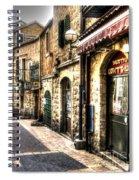 Quiet Shopping Street Before The Shops Open Spiral Notebook