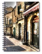 Quiet Shopping Street Before The Shops Open Spiral Notebook