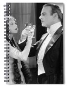 Silent Film Still: Drinking Spiral Notebook