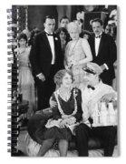 Silent Film Still: Milkman Spiral Notebook