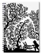 Silhouette 19th Century Spiral Notebook