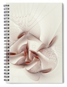 Silver And Red Spiral Notebook