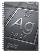 Silver Chemical Element Spiral Notebook