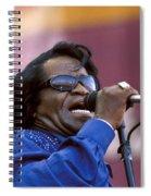 Singer James Brown Spiral Notebook