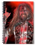 Singer Rob Zombie Spiral Notebook