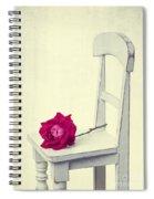 Single Red Rose Spiral Notebook