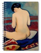 Sitting Nude With Pillow Spiral Notebook