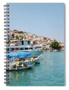 Skopelos Harbour Greece Spiral Notebook