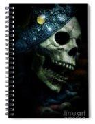 Skull In Crown Spiral Notebook