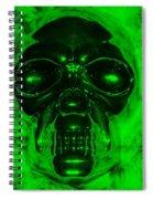 Skull In Green Spiral Notebook