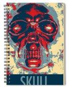 Skull In Hope Spiral Notebook