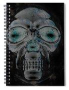 Skull In Negative Spiral Notebook