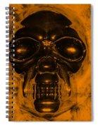 Skull In Orange Spiral Notebook