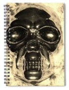 Skull In Sepia Spiral Notebook