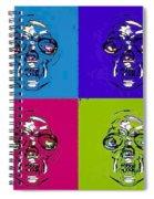 Skulls In Quad Colors Spiral Notebook