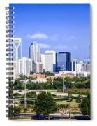 Skyline Of Uptown Charlotte North Carolina Spiral Notebook
