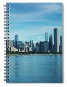 Skylines At The Waterfront, Lake Spiral Notebook