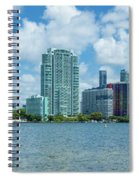 Skylines At The Waterfront, Miami Spiral Notebook
