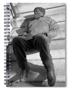 Sleeping On Steps Spiral Notebook