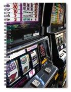 Slot Machines At An Airport, Mccarran Spiral Notebook