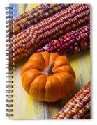 Small Pumpkin And Indian Corn Spiral Notebook