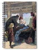 Smallpox Vaccination, 1885 Spiral Notebook