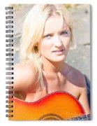 Smiling Female Guitarist Spiral Notebook
