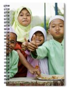 Smiling Muslim Children In Bali Indonesia Spiral Notebook