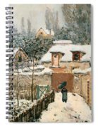 Snow At Louveciennes  Spiral Notebook