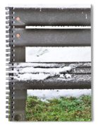 Snow On Bench Spiral Notebook