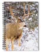 Snowstorm Deer Spiral Notebook