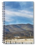 Snowy High Peak Mountain Spiral Notebook