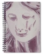 Sorrow - Triptych Panel 1 Spiral Notebook
