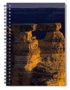South Rim Grand Canyon Taken Near Mather Point Sunrise Light On  Spiral Notebook