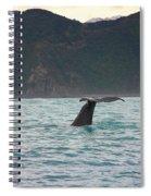 Sperm Whale Diving  Spiral Notebook