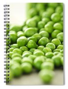 Spilled Bowl Of Green Peas Spiral Notebook