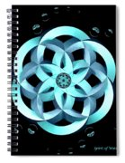 Spirit Of Water 1 - Blue With Water Drops Spiral Notebook