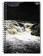 Splashing Australian Water Stream Or Waterfall Spiral Notebook