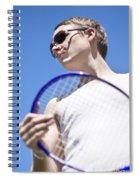 Sporting A Racquet Spiral Notebook