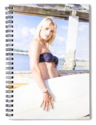 Sports Person Carrying Surf Board Outdoors Spiral Notebook
