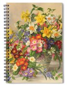 Spring Flowers And Poole Pottery Spiral Notebook