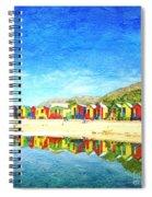 St James Beach Huts South Africa Spiral Notebook