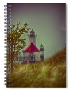 St. Joseph North Pier Lighthouse Lake Michigan. Spiral Notebook