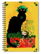 St Patrick's Day - Le Chat Noir Spiral Notebook